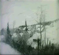 winter landscape by bernard ganter