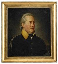 porträtt av generalmajoren greve georg adlersparre, iklädd uniformsrock med armbindel by per krafft the younger