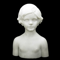 bust of child by mario korbel