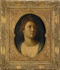 kvinna med pärlhalsband by cornelis cornelisz van haarlem