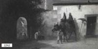 arabic scene by w. eardman