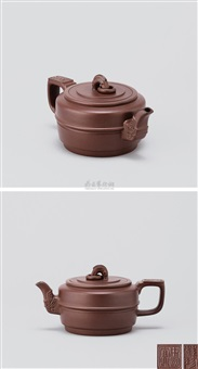 集玉壶 (teapot with decoration of jade) by zhou guizhen