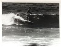 surfing - 22nd street, huntington beach (california) (set of 18) by leroy grannis