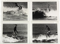 surfing - 22nd street, huntington beach (california) (set of 14) by leroy grannis