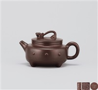 长盛无衰壶 (teapot with beast shaped knob) by xu xiutang