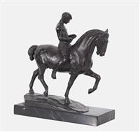 reiter mit pferd by rudolf kaesbach