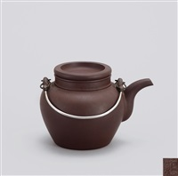 小寿星 (water jar with overhead handle) by xu hantang