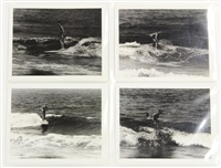 surfing - riviera (california) (set of 18) by leroy grannis