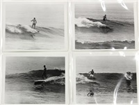 surfing - tamarack (california) (set of 18) by leroy grannis