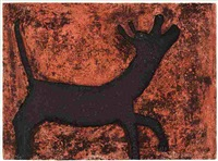 dog (sold with 224a, b, d&e; set of 5) by rufino tamayo