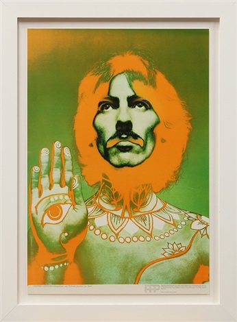 psychedelic beatles (john, paul, ringo, and george) (4 works) by richard avedon