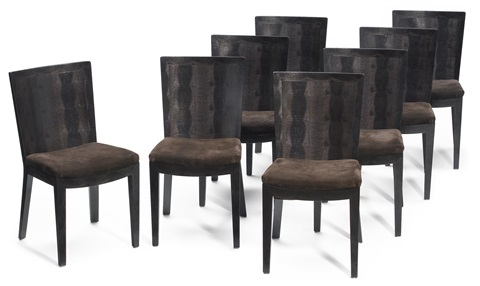 dining chairs (set of 8) by karl springer