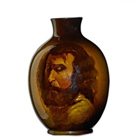 rozane royal dark portrait vase by roseville