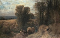 the hay wagon by albert fitch bellows