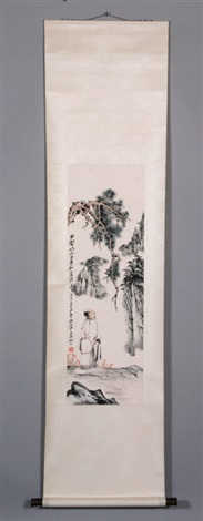 scroll painting by zhang daqian