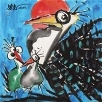 吉祥三宝 (fowl) by jiang hongguang