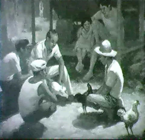 the cock fight by aj amorsolo