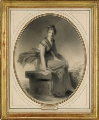 sittande kvinna by alexandre-évariste fragonard