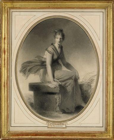 sittande kvinna by alexandre évariste fragonard