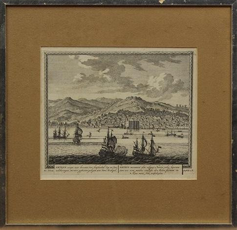 seventeenth century battleships set of 5 by pieter petrus schenk