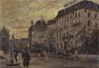 blick auf hotel euler in basel by dino rossi