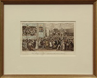 grand carnival; lowest life in london (pair) by george cruikshank
