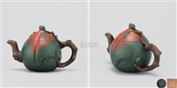 长寿碧桃壶 (peach shaped teapot) by jiang rong