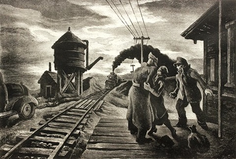 morning train by thomas hart benton