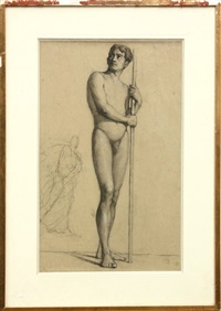 standing male nude by louis appian