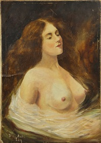 portrait of a nude by angelo asti