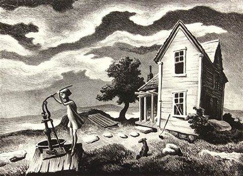 the farmers daughter by thomas hart benton