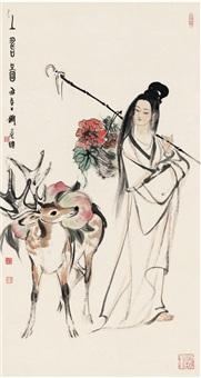 上寿图 (the fairy offering peach) by liu danzhai