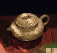 瘿身竹节壶 (bamboo shaped teapot with wart) by jiang anqing