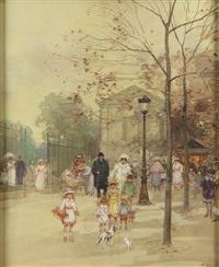 promenade dans le parc by eugène galien-laloue