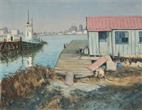 harbor scene by edward o. kraske