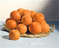 still life with oranges (+ stilllife with grapes; 2 works) by jacques blanchard