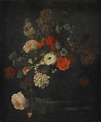blomsterstilleben (pair) by johann friedrich pfeiffer