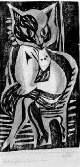 chatte métamorphoisée en femme by hans (fis) fischer
