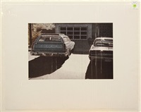ford wagon and woody (pair) by robert bechtle