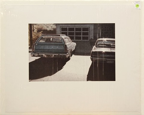 ford wagon and woody pair by robert bechtle