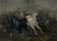 von blitz und donner aufgeschreckte pferde by joseph simon volmar