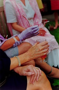 ascot, berkshire, from the series think of england by martin parr
