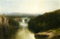 view of a waterfall by j. b. smith