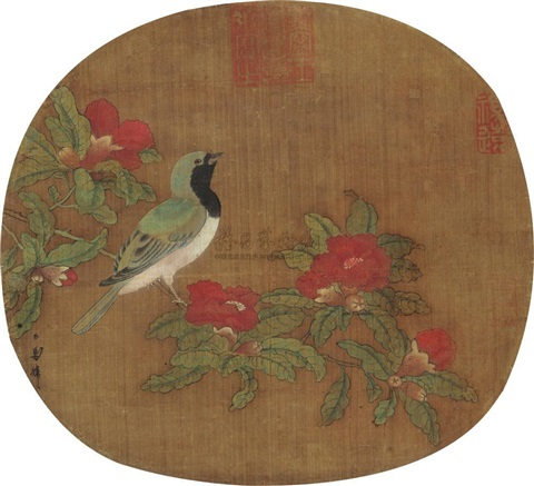 bird and flowers by ma lin