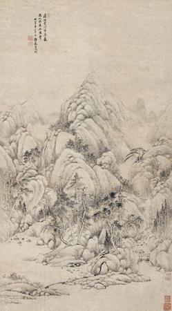 山水 landscape by tang dai
