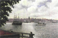 utsikt mot söder - motiv från stockholm by frans lindstrom