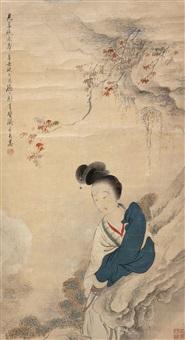 仕女图 (character) by liu dezhi