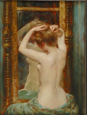 the old pier glass by james carroll beckwith
