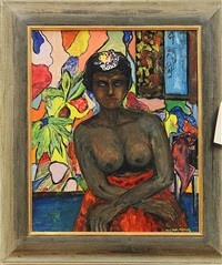 seated nude by victor manuel