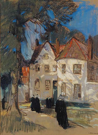 untitled nuns on the street by leonard richmond